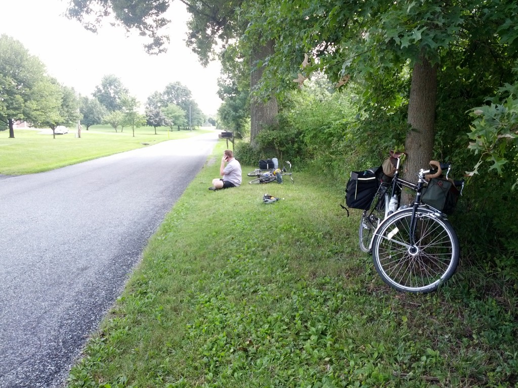 Stopped for a rest -- somewhere outside of Dillsburg